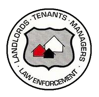 Landlords tenants managers law enforcement logo