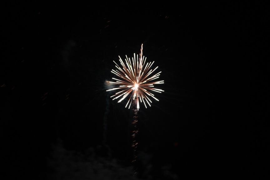 White fireworks burst