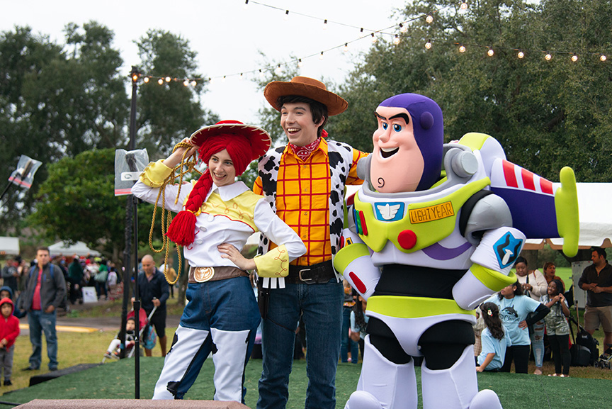 Toy Story costumed characters at Winter Fest