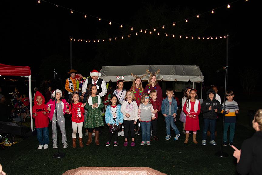 Children at winter fest