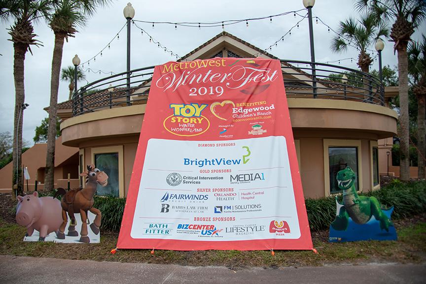 Metrowest winter fest sponsors sign