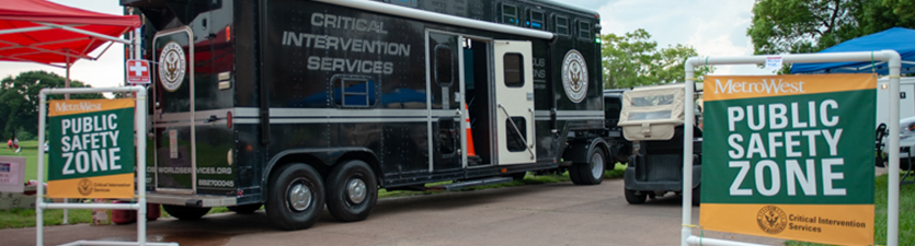 Critical intervention services truck at Metrowest's Public Safety Zone event